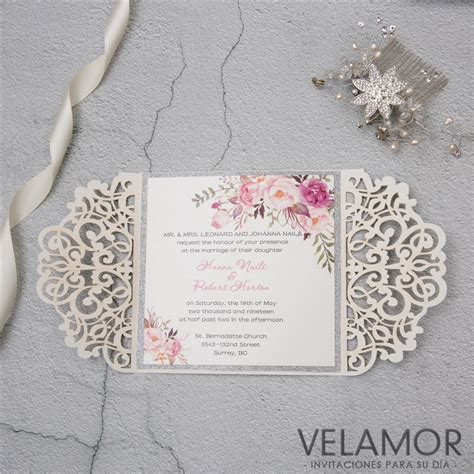 elegante invitacion para boda wpl0070 en papel brillante wpl0070g 1 20 mayoreo de elegante invitacion wpl0135 en papel brillante wpl0135g 1 20 mayoreo de invitaciones