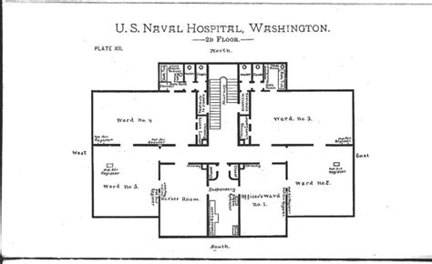 2nd floor floor plan notes on naval hospitals medical schools and training