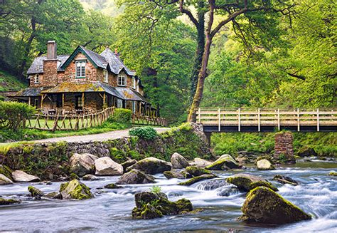 peaceful rock river house neighboring a forest reserve in exmoor national park england tourist destinations