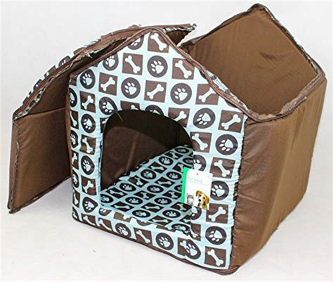 cloth dog house luxury soft plush fabric dog house with detatchable roof removable machine washable