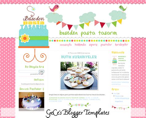gece s blogger templates a cute blog design for buseden
