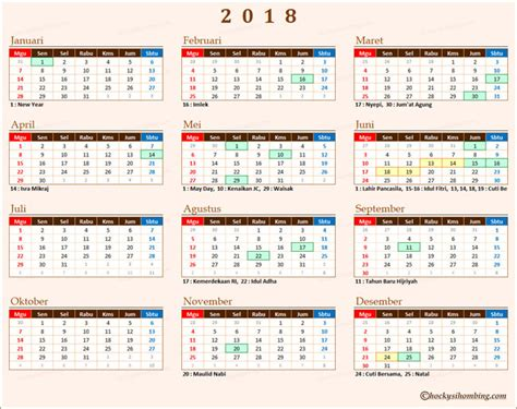 kalender  indonesia  libur nasional chocky sihombing