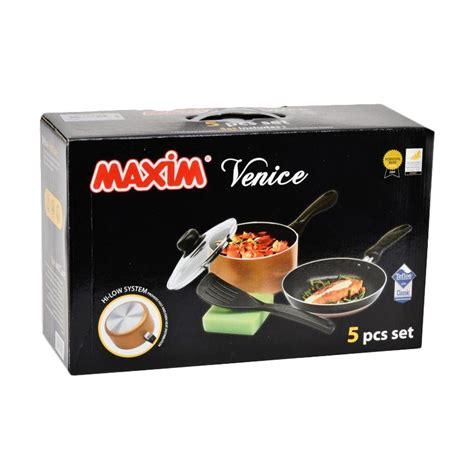Maxim Valentino Set Alat Masak jual maxim venice set alat masak 5 pcs harga kualitas terjamin blibli