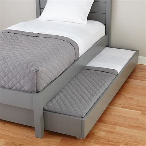 Used Trundle Bed by Uptown Trundle Bed Grey The Land Of Nod