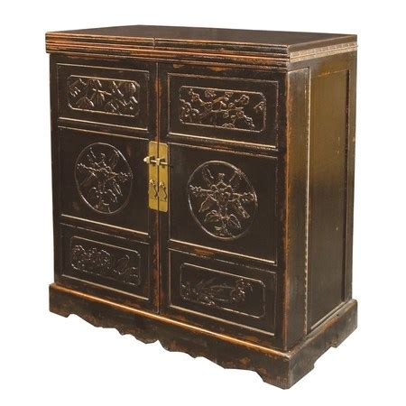 Painted Bar Cabinet Black Painted Elm Wood Wine Cabinet Bar