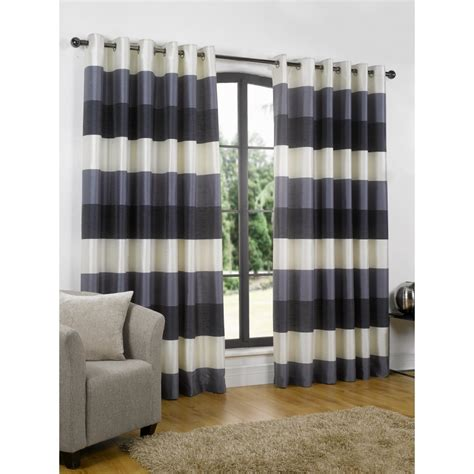 striped navy curtains urban living rio navy stripe eyelet readymade curtain