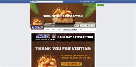 Snickers Sweepstakes 2017 - snickers brand game day satisfaction sweepstakes