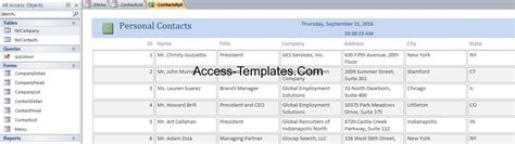 contact database management software for ms access