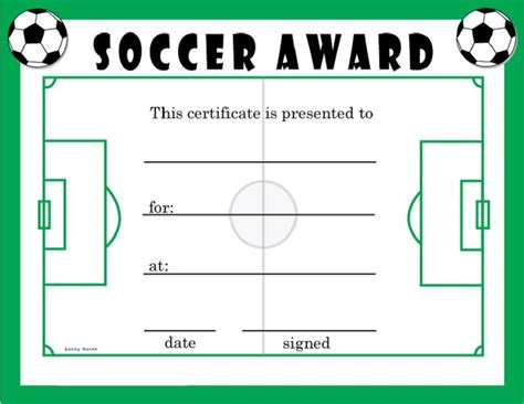 templates for soccer awards soccer award certificates activity shelter blank
