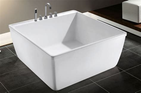 square bathtub with shower korea small size square bath tub portable acrylic