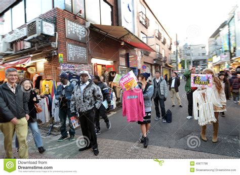 november tokyo tokyo japan november 24 crowd at takeshita street