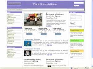 Portal Templates by News Portal Website Template 32 Three Column Free Css