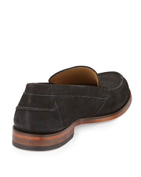 cole haan loafers for cole haan henderson ii venetian loafer in black for lyst