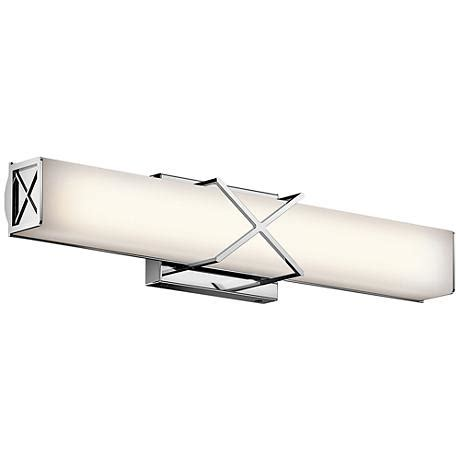 kichler 45617chled landi contemporary chrome led 24 kichler zolon 24 quot wide led chrome linear bath light