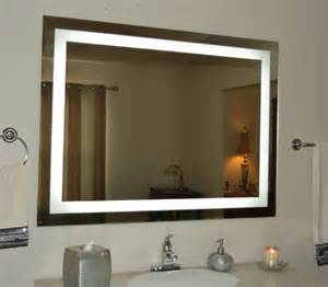 Vanity Mirror On Wall Wall Mounted Lighted Vanity Mirror Led Mam84836 Commercial