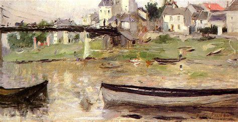 boats on the seine boats on the seine berthe morisot wikiart org