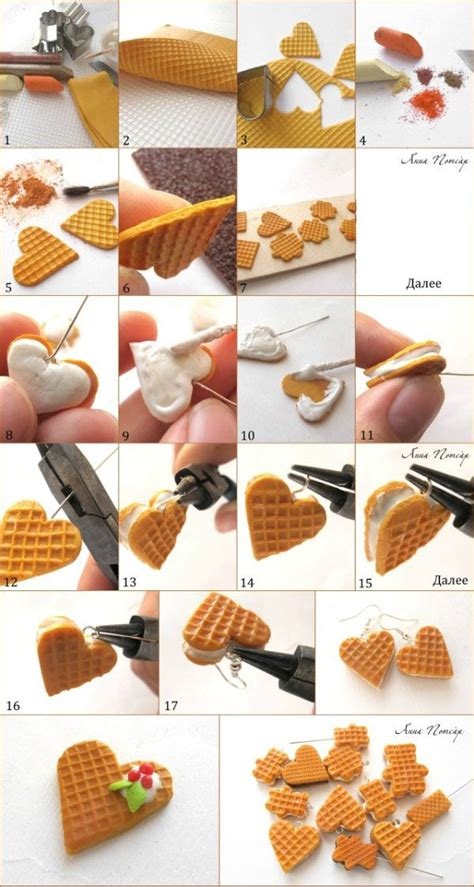 tutorial waffle waffle hearts tutorial for fimo or polymer clay