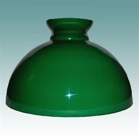2446 s green cased glass student shade 14 quot glass