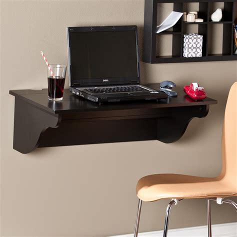 wall shelf for computer southern enterprises clapton wall mount laptop desk black desks at hayneedle