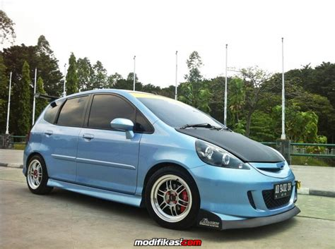 Frontpipe Honda Jazz Idsi Gd3 jazz gd3 idsi 04 at sky blue jdm daily use