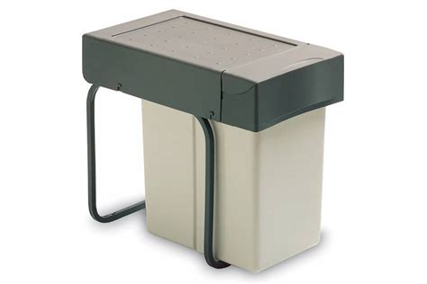 kitchen cabinet bin emuca pull out kitchen cabinet wate bin 20 litres