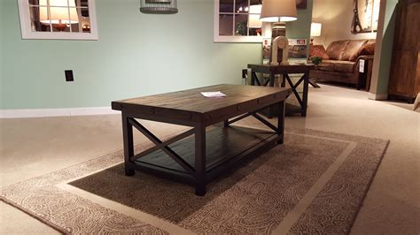 twist rectangular coffee table side tables from karpenter flexsteel carpenter occasional tables furniture store bangor maine living room dining room