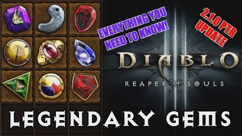 d3 best legendary gem diablo 3 reaper of souls ptr comprehensive legendary g