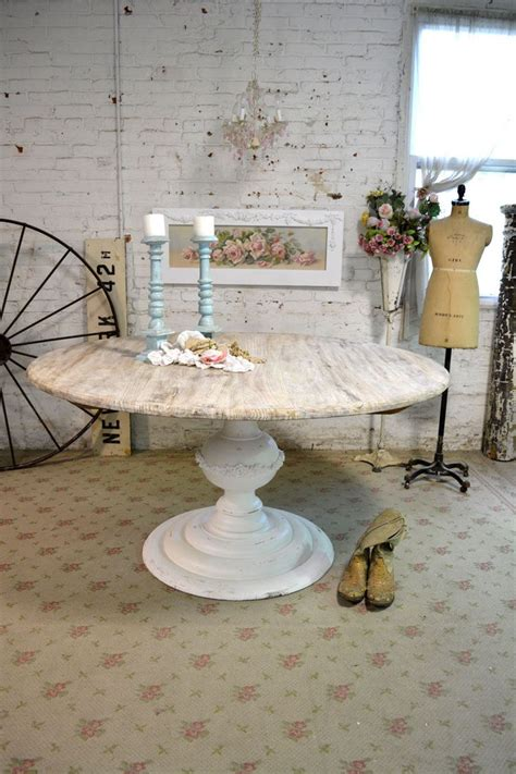 vintage french country dining room table dutchcrafters painted cottage chic shabby french linen round dining