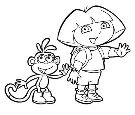 coloring pages dora the explorer coloring page printable