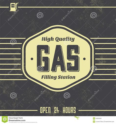 vintage gasoline sign retro template stock vector