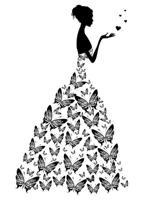 free bride with wedding dress vector illustration titanui