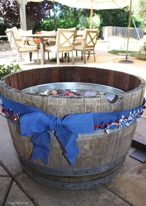 wine barrel bathtub wine barrel beverage tub outdoor parties frugelegance