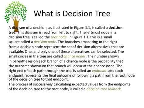 Mba In Decision And Information Science by Decision Tree M B A Decsci