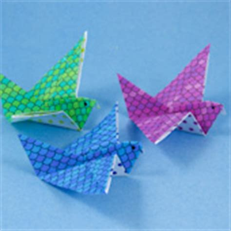 Flying Swan Origami - how to make origami flying birds friday