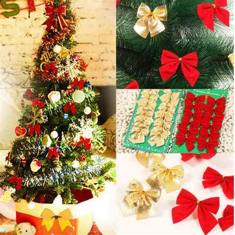 bows for christmas tree decorating 12x bow tree decoration hanging ornament bowknot home decor ebay