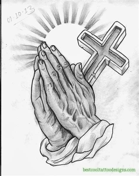 praying hands and cross tattoo designs praying archives best cool designs