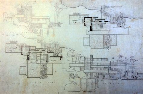 frank lloyd wright floor plans frank lloyd wright waterfall house floor plans