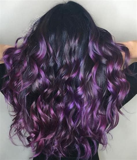 40 versatile ideas of purple highlights for blonde brown 40 versatile ideas of purple highlights for blonde brown and red hair purple balayage black