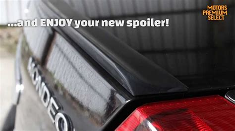 universal rubber boot spoiler trunk lip spoiler measuring and installation guide youtube