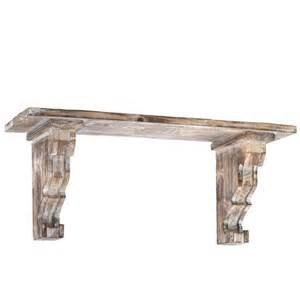 Distressed Corbels Trends Wooden Wall Shelf With Corbels Distressed