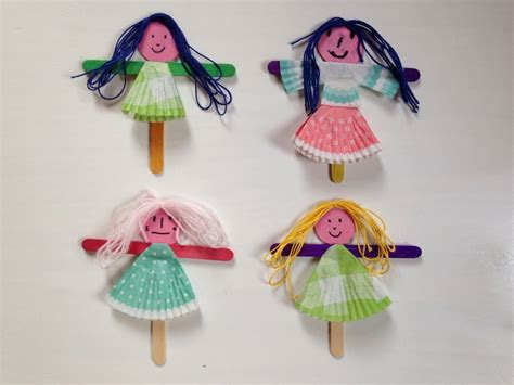 doll crafts for pretty puppets my kid craft