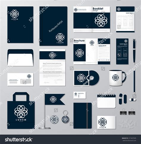 template mockup card set corporate identity template set business mock up with
