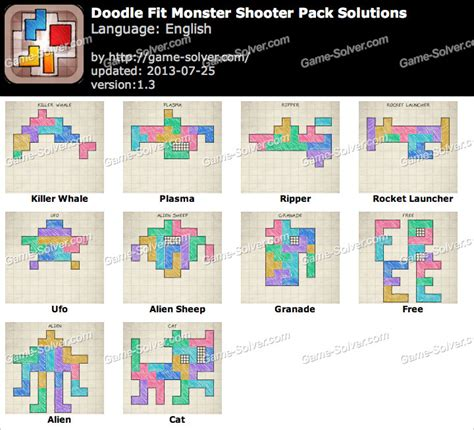 how to do on doodle fit doodle fit shooter pack solutions solver