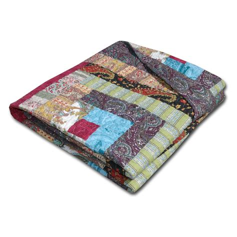 Patchwork Throws - greenland home colorado cabin quilted patchwork throw