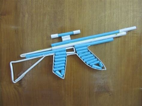 How To Make A Pistol Out Of Paper - how to make a paper ak 47 gun that shoots with trigger