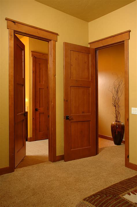 Wood And Style by Craftsmen In Honey Interior Door Square Top Rail 3 Panel