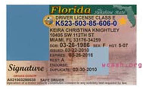 This Is Template Drivers License State Florida File Photoshop You Can Change Name Address Birth Florida Drivers License Template