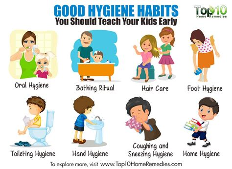 clean habits 10 good hygiene habits you should teach your kids early top 10 home remedies