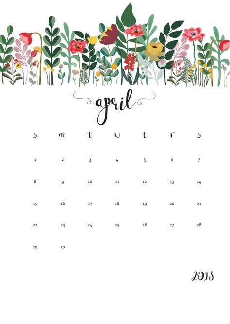 design calendar background april 2018 calendar floral designs calendar 2018