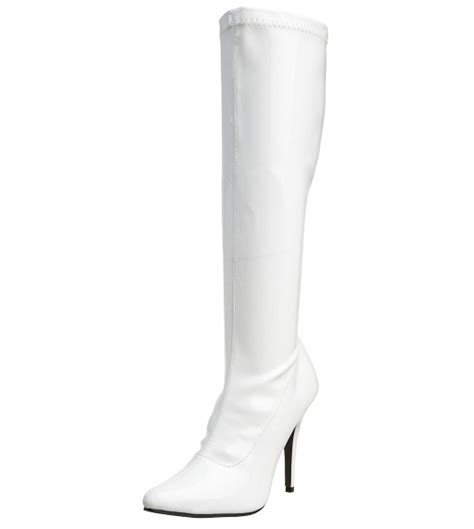 cheap white knee high boots for of trendy fashion